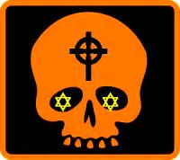 cross skull DEEPER orange