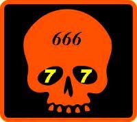 666 Skull deep orange